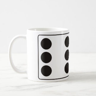 DICE numbers of pips 6 & 5 + your ideas Classic White Coffee Mug