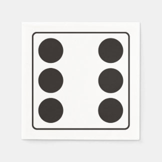 DICE numbers of pips 6 + your backgr. Paper Napkin