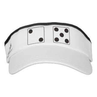 DICE numbers of pips black 2 + 5 + your text Visor