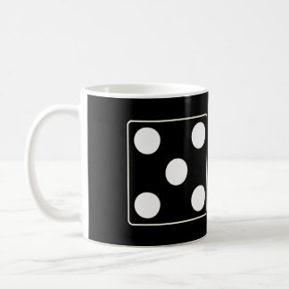 DICE numbers of pips white 5 & 2 + your ideas Classic White Coffee Mug