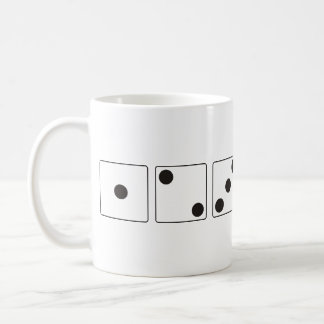 DICE numbers of pips + your backgr. color & ideas Classic White Coffee Mug