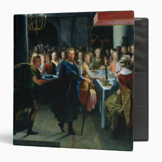 Dice Offering a Banquet to Francus 3 Ring Binder