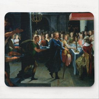 Dice Offering a Banquet to Francus Mouse Pad
