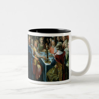Dice Offering a Banquet to Francus Two-Tone Coffee Mug