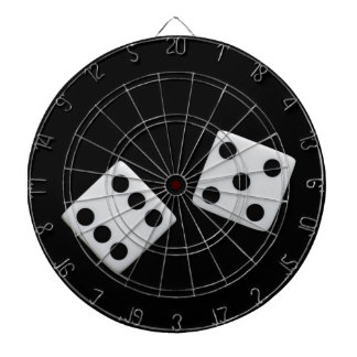 Dice On Black Dart Board