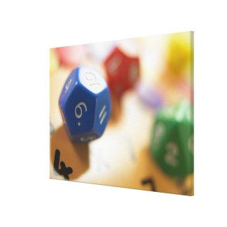Dice on math game canvas print