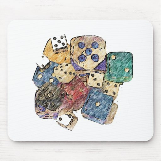 Dice Painting 1 Mouse Pad