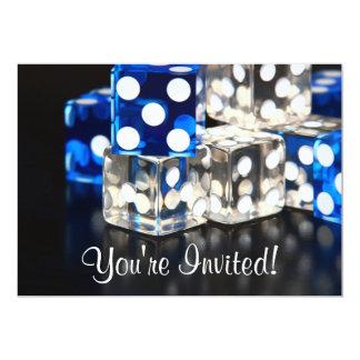 """Dice Party Invitation 5"""" X 7"""" Invitation Card"""