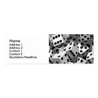 Dice Personal Profile Cards Double-Sided Mini Business Cards (Pack Of 20)