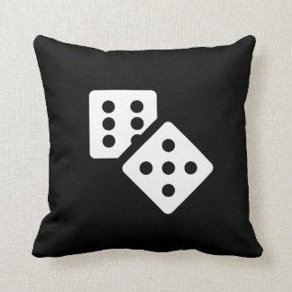 Dice Pictogram Throw Pillow