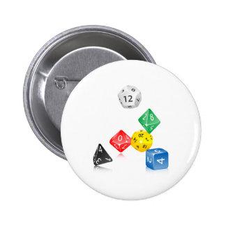 Dice Pinback Button