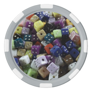 Dice Poker Chips, Gaming Dice Poker Chip Set at Zazzle