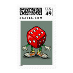 Dice Postage Stamp