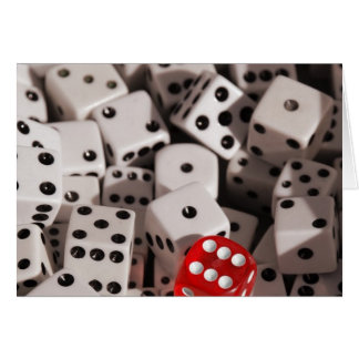 Dice - Red Color Spash Card
