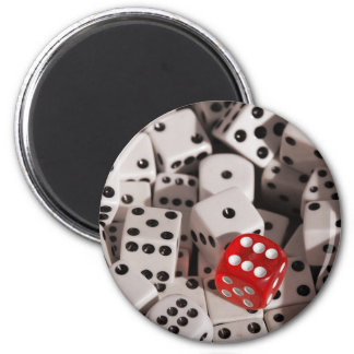 Dice - Red Color Spash Magnet