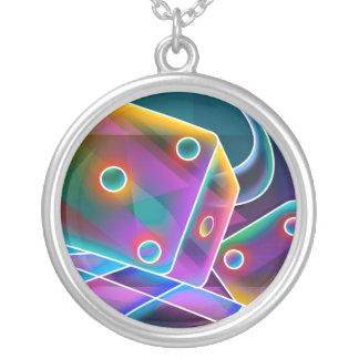 dice round pendant necklace
