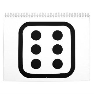 Dice six calendar