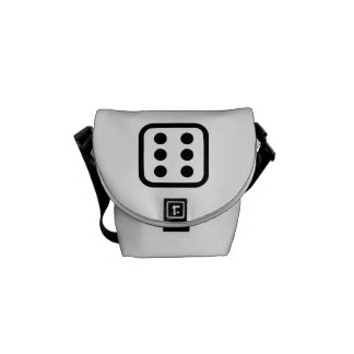 Dice six messenger bag