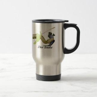 Dice Snake 15 Oz Stainless Steel Travel Mug