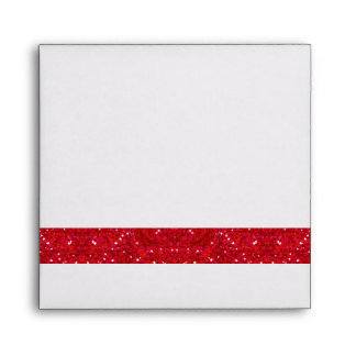 Dice Theme Square Envelope Red & White