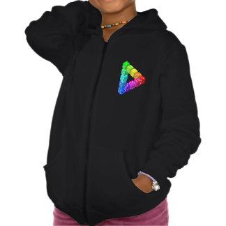 Dice Triangle Girls Hoodie