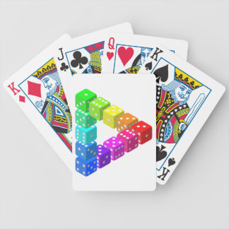 Dice Triangle Playing Cards