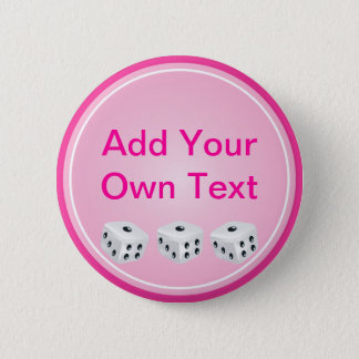 dice with pink circle customizable button