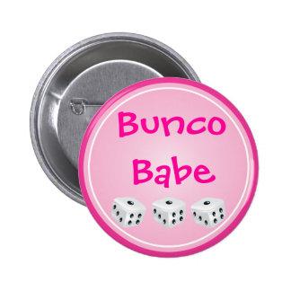 dice with pink circle customizable pinback button
