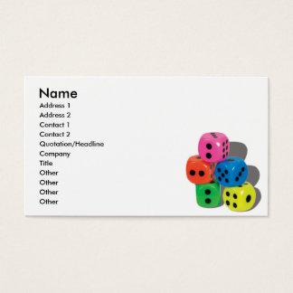 DiceCard, Name, Address 1, Address 2, Contact 1... Business Card