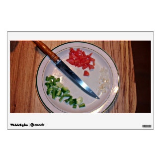 Diced Vegetables Wall Decal