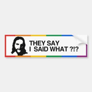 DICEN QUE DIJE LO QUE - JESÚS - .PNG PEGATINA DE PARACHOQUE