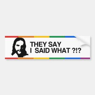DICEN que DIJE LO QUE - JESUS.png Pegatina Para Auto
