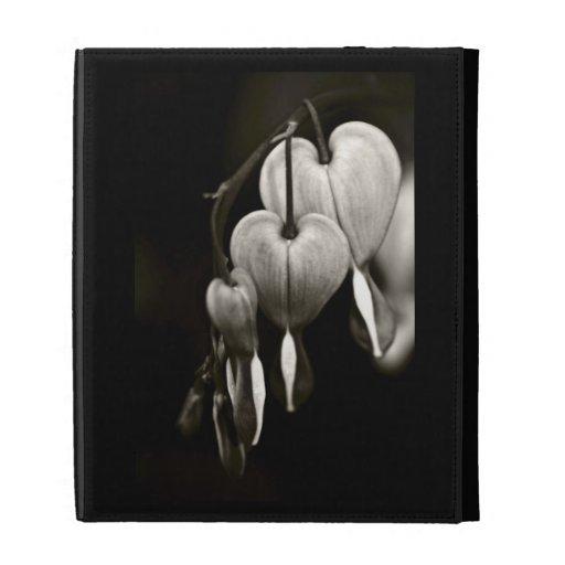 Dicentra Bleeding Hearts (B&W) iPad Folio Cases
