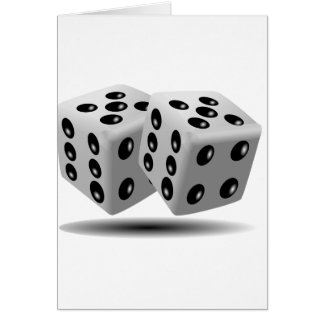 Dices Game Gambling Cubes Numbers Luck Random Card