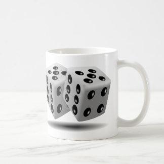 Dices Game Gambling Cubes Numbers Luck Random Coffee Mug