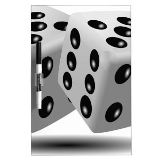 Dices Game Gambling Cubes Numbers Luck Random Dry Erase Board