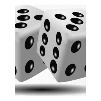 Dices Game Gambling Cubes Numbers Luck Random Letterhead