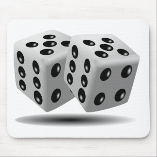 Dices Game Gambling Cubes Numbers Luck Random Mousepads