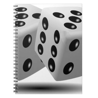 Dices Game Gambling Cubes Numbers Luck Random Note Book