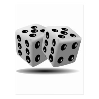 Dices Game Gambling Cubes Numbers Luck Random Postcard
