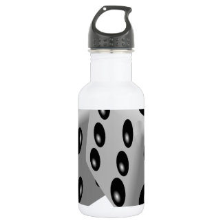 Dices Game Gambling Cubes Numbers Luck Random Stainless Steel Water Bottle