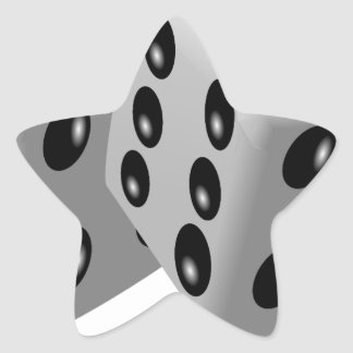 Dices Game Gambling Cubes Numbers Luck Random Star Sticker