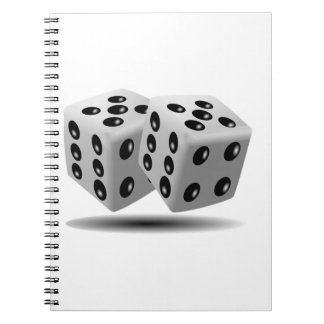 Dices Image Spiral Notebook