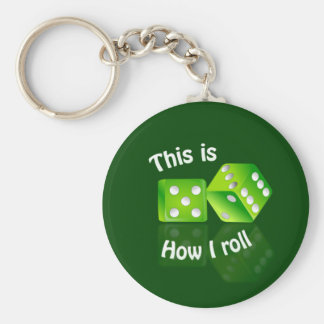 Dices keychain