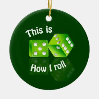 Dices ornament