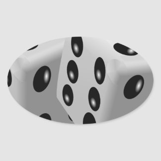 Dices Oval Sticker