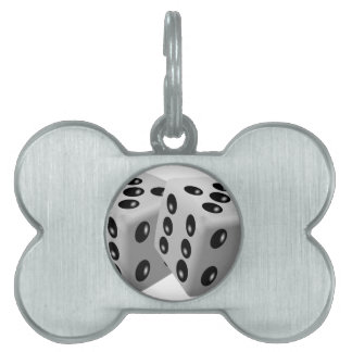 Dices Pet Name Tag