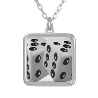 Dices Silver Plated Necklace