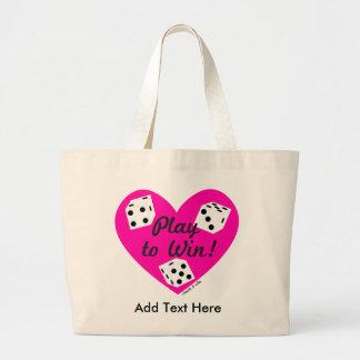 Dicey Heart Tote Bag