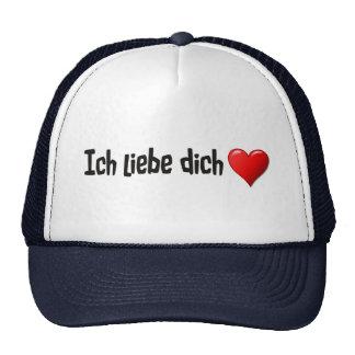 Dich del liebe de Ich - te amo en alemán Gorras
